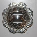 ​Floral stainless steel conchos ($25 per saddle)